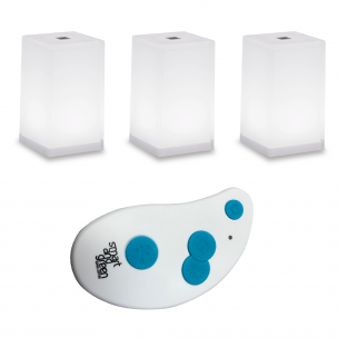 CUB and KEY pack Pack of three CUB table lamps and one remote control