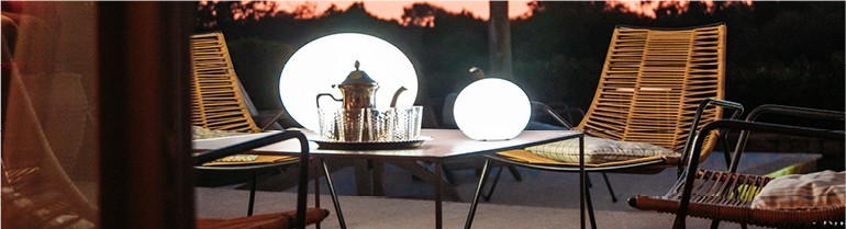 Ball and cube lamps